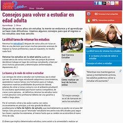 Consejos para volver a estudiar en edad adulta