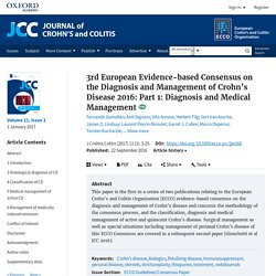 Part 1: Crohn's Disease 2016 Consensus on the Diagnosis and Management : Diagnosis and Medical Management