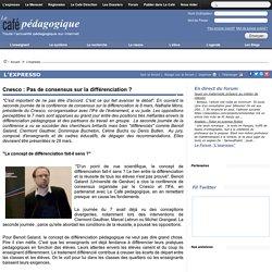 Cnesco : Pas de consensus sur la différenciation ?