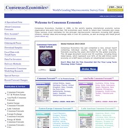 Consensus Economics - Economic Forecasts and Indicators