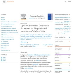 Updated European Consensus Statement on diagnosis and treatment of adult ADHD