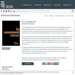 Du consentement, Geneviève Fraisse, Sciences humaines
