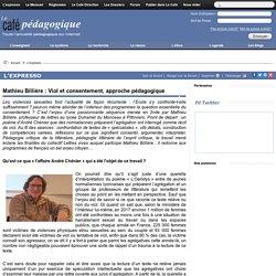 Mathieu Billière : Viol et consentement, approche pédagogique