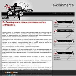 B- Conséquence du e-commerce sur les entreprises.