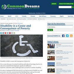 Disability is a Cause and Consequence of Poverty