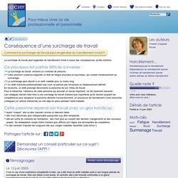 Conséquence d'une surcharge de travail - ACSER.org