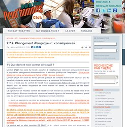 2.7.2. Changement d'employeur : conséquences