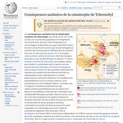 Conséquences sanitaires de la catastrophe de Tchernobyl
