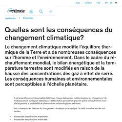 Quelles sont les conséquences du changement climatique?
