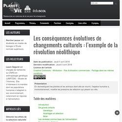 Changements culturels & évolution humaine: l'exemple de la révolution néolithique – Panet-vie