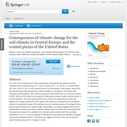 Climatic Change - May 2013 - Consequences of climate change for the soil climate in Central Europe and the central plains of the