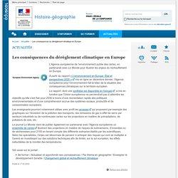 Les conséquences du dérèglement climatique en Europe-Histoire-géographie-Éduscol