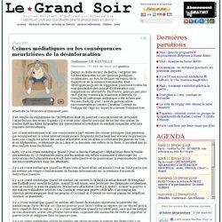 Crimes médiatiques ou les conséquences meurtrières de la désinformation par Guillaume de Rouville