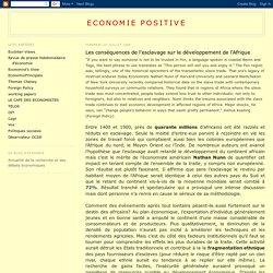 Economie positive: Les conséquences de l'esclavage sur le développement de l'Afrique