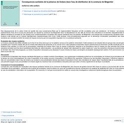 INVS 23/03/05 Conséquences sanitaires de la présence de lindane dans l'eau de distribution de la commune de Belgentier