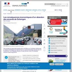 Les conséquences économiques d'un abandon des accords de Schengen