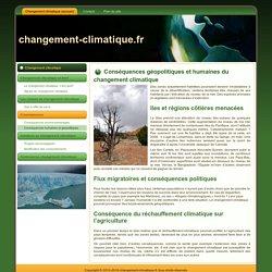 Conséquences géopolitiques et humaines du changement climatique