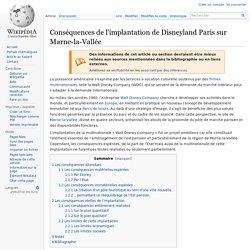 Conséquences de l'implantation de Disneyland Paris sur Marne-la-Vallée