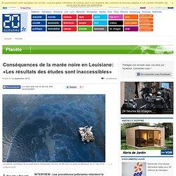 Conséquences de la marée noire en Louisiane: «Les résultats des études sont inaccessibles»