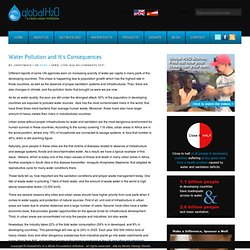 Water Pollution and It's Consequences - GlobalH2o – a clean water initiative