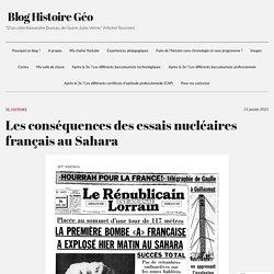 Les conséquences des essais nucléaires français au Sahara