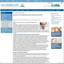 Causes et conséquences de l'obésité infantile