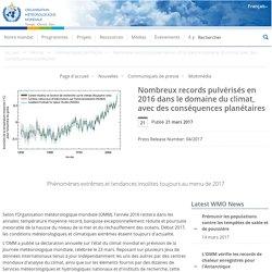 Nombreux records pulvérisés en 2016 dans le domaine du climat, avec des conséquences planétaires