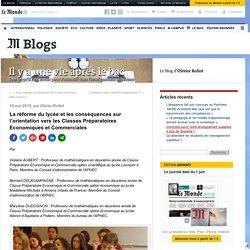 La réforme du lycée et les conséquences sur l'orientation vers les Classes Préparatoires Economiques et Commerciales