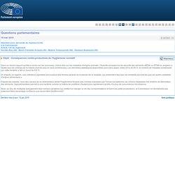 PARLEMENT EUROPEEN - Réponse à question E-007891-15 Conséquences contre-productives de l'hygiénisme normatif (concerne Listeria)