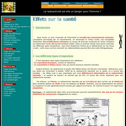 Conséquences de la radioactivité sur la santé