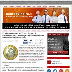 10 conséquences d'un retour au franc et d'une fin de l'euro possible