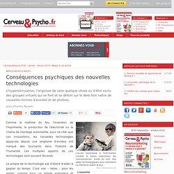 Conséquences psychiques des nouvelles technologies