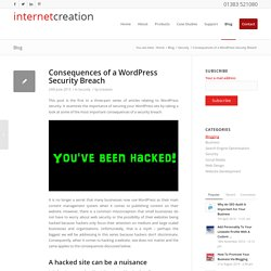 Consequences of a WordPress Security Breach
