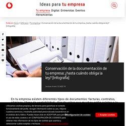 Conservación de la documentación de tu empresa: ¿hasta cuándo obliga la ley? [Infografía] - Ideas para tu Empresa