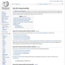 Ley de conservación