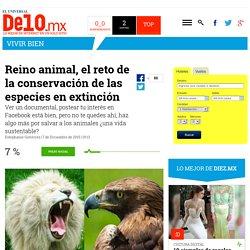 Reino animal, el reto de la conservación de las especies en extinción