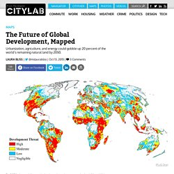Nature Conservancy Maps Land at Risk of Conversion by Global Human Growth and Development
