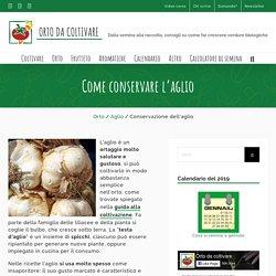 Come conservare l'aglio