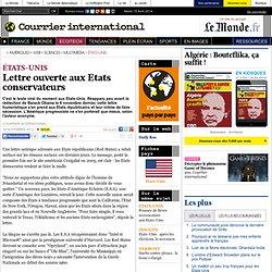 Lettre ouverte aux Etats conservateurs
