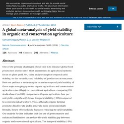 NATURE - 2018 - A global meta-analysis of yield stability in organic and conservation agriculture