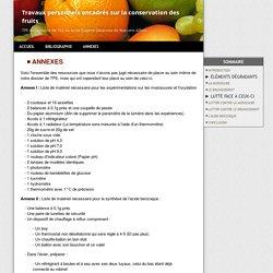 Annexes - La conservation alimentaire