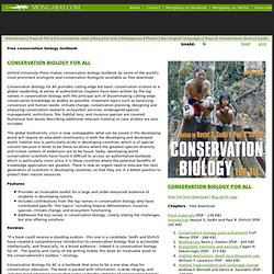 Free conservation biology textbook: Conservation Biology for All