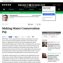 Making Water Conservation Pay by Giulio Boccaletti