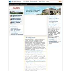 Audio-Visual Conservation (Library of Congress Packard Campus, Culpeper, Virginia)
