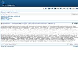 PARLEMENT EUROPEEN - Réponse à question E-001281/2011 Possibilité d'instaurer des règles plus strictes pour la conservation et l
