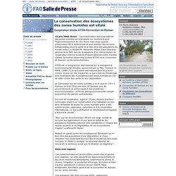 La conservation des écosystèmes des zones humides est vitale