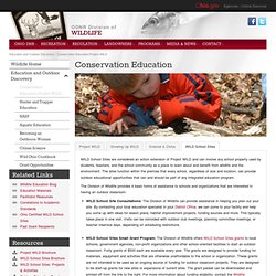 Conservation Education/Project WILD
