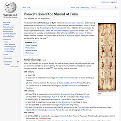 Conservation of the Shroud of Turin