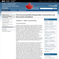 Chapter 6 - Water Conservation - The Environmentally Responsible Construction and Renovation Handbook - Real Property