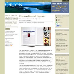Conservation and Eugenics